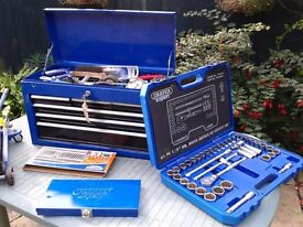 draper tool chest box with tools