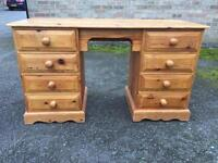 Solid pine dressing table (delivery available)