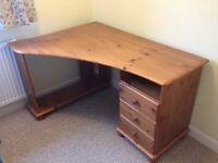 Corner Computer Desk - solid pine