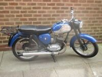 BSA Bantam 1967 D10 Classic British Bike Running