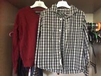 Boys Horwick 2x shirt and 1 jumper 7-8