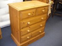 MEDIUM SIZE PINE CHEST OF DRAWERS