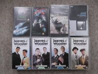 14 VHS BBC tapes - Jeeves & Wooster, A Perfect Spy, Gormenghast and Blake's 7