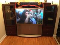 50 inch -JVC TV and 3 piece surround cabinet