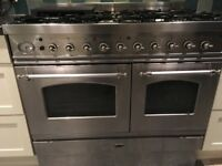 Britannia stainless steel range cooker with 6 gas burners