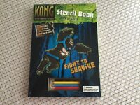 King Kong Stencil Activity Book - Hardback Book with Stickers