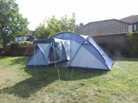 """Vango Aurora 600 tent. 6 man, 2 bedroom tent, Only used twice, """"as new"""" condition."""