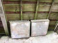 4 large paving slabs FREE