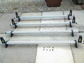 4 Bar Aluminum ULTI Bar heavy duty roof bars with end stops on three