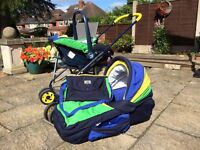 Bebecar 3 in 1 pram and car seat set (limited edition colours)