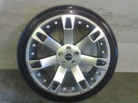 ALLOYS X 4 OF 22 INCH RANGEROVER OVERFINCH FULLY POWDERCOATED IN A STUNNING SHADOW CHROME VERY NICE