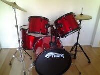 7 piece Tiger drum kit. Good condition, collection only.