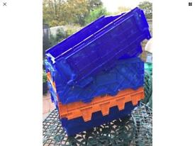 Mixed heavy duty plastic crates, containers - £10.00 each