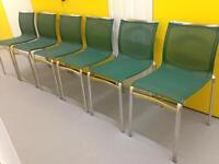 6 stackable Aluminium designer dining room chairs by ALIAS- Italian Furniture Sutton