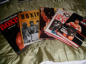 BOXING BOOKS FIVE BOOKS IN GOOD CONDITION £5 COLLECTION ONLY