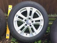 alloy wheels + new tyres mercedes w204 w203