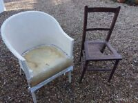 2 chairs for restoration diy upholstery project