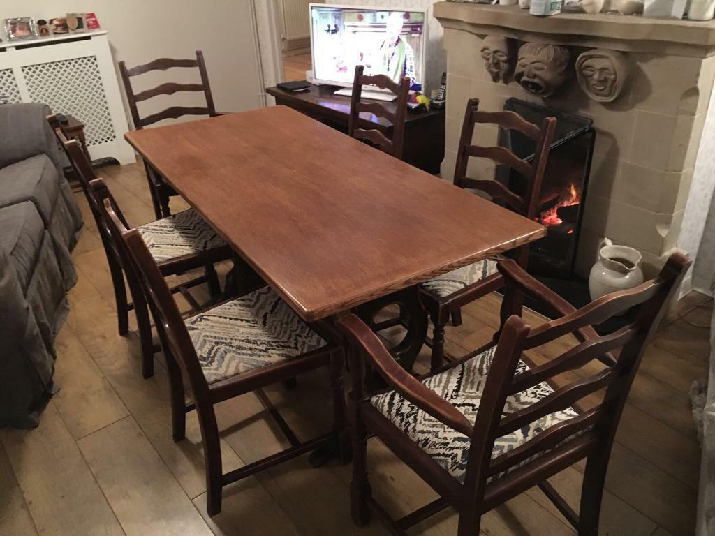 Dining Table With 6 Chairs Re Upholstered Seat Covers