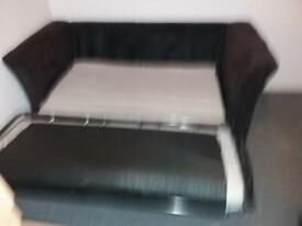 dark brown fabric Sofa Bed