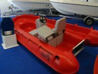 BRAND-NEW WHALY 435 ROTO-MOULDED POLYETHYLENE RIB POLYCRAFT-TYPE SAFETY BOAT UNSINKABLE