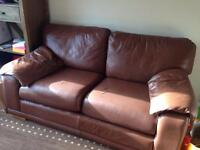 Urgent Brown Leather Sofa