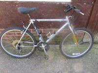 mens peugeot mountain bike with lock £45.00