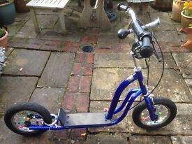Kids Scooter - Blue with big wheels - Lovely clean condition