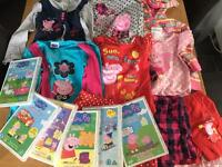 Peppa Pig Clothes size 4-5 & DVDs