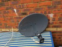 sky dish with quad lnb