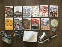 Nintendo Wii Console Bundle + 12 Games