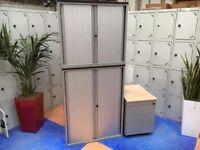 Office Furniture Set/2 Techo Tambour Office Storage Cupboard/Under Desk Pedestal