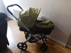 Mothercare Spin complete travel system includes pram that converts to buggy and car seat