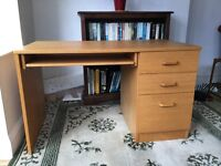 Filing Desk, well made, light wood veneer, bought from John Lewis