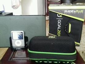 4 GB ipod + goal zero charging and speaker outfit