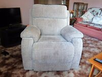 Electric reclining armchair.