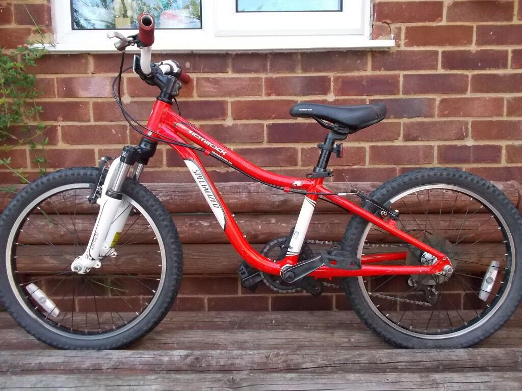 Red White Specialized Hotrock 20 Bike In Ash