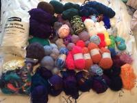 Big bundle of wool & yarn