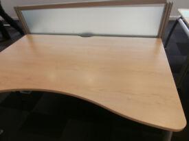 Senator designer desks x set of 2 with divider screen (Delivery)