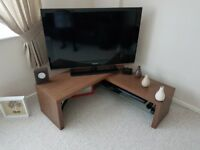 TV stand in walnut from Next.