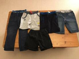 Bundle of trousers and shorts aged 5-7