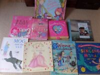 9 kids childrens story books - immaculate condition KS1/early years-MOG,WINNIE Witch,Singing Mermaid