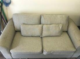 Light grey sofa bed- good condition