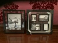 Photograph frames, black, with glass