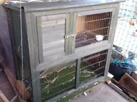 RABBIT HUTCH FOR SALE - 2 LEVELS - VGC - CAN DELIVER LOCAL IF BUYER PAYS FUEL COSTS