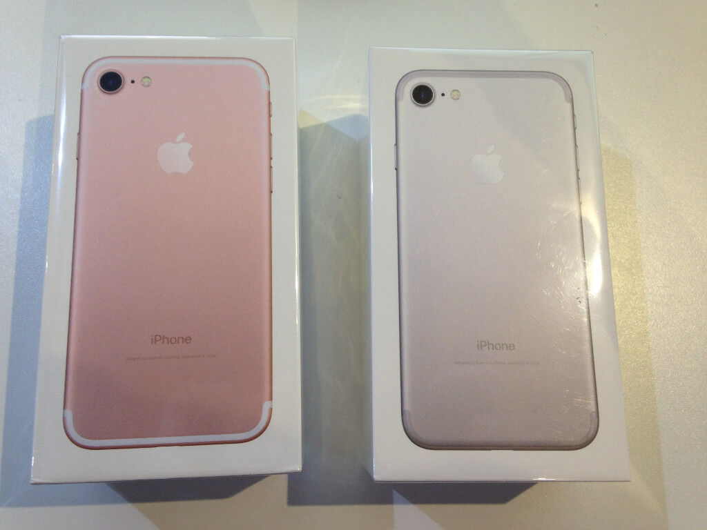 iphone 7 silver rose gold available 128gb storage brand new sealed with apple. Black Bedroom Furniture Sets. Home Design Ideas
