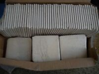 Total 50 tiles B&Q Kitchen Cream Ceramic Wall Tiles 100x100mm