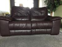 3 & 2 seater real leather electric reclining sofas