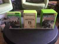 Xbox one , Xbox 360 and Original Xbox Games with stand!