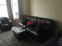 Three Person Sofa and Footstool