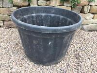 Large black 180 litre garden planters / pots - Etna by Idel